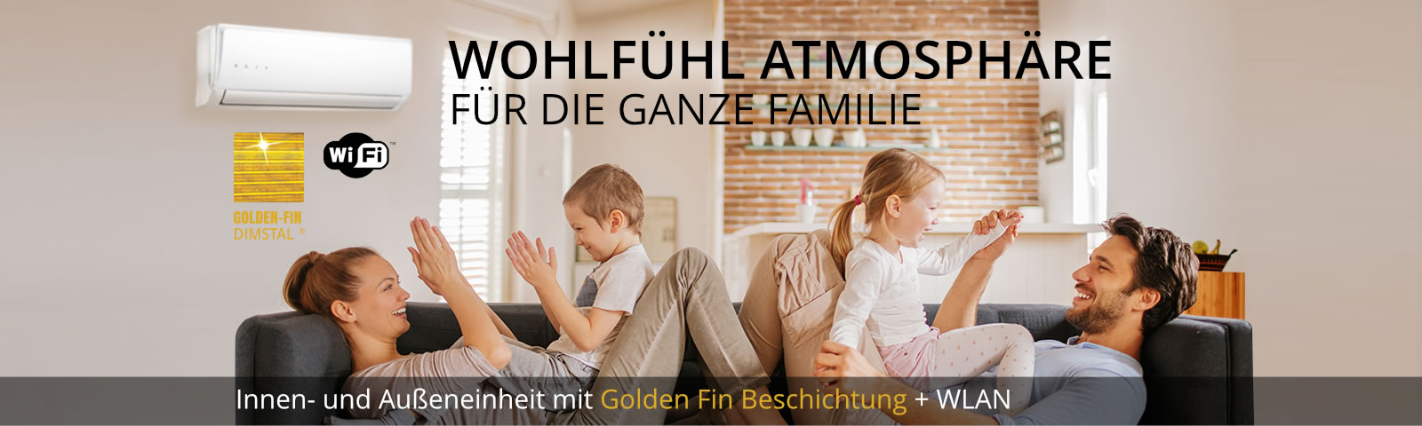 Split Klimaanlage kaufen - DIMSTAL® Golden-Fin Inverter Klimageräte